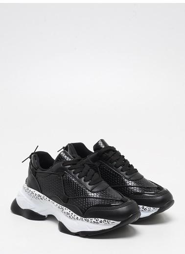 F By Fabrika Fabrika Sentetik Yüksek Nlı Bağcıklı Renk Sayla Kadın Sneaker Siyah